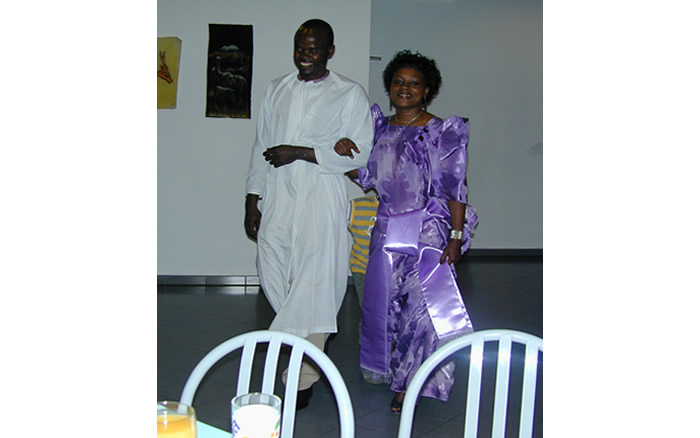 African traditional attire at Zinema cultural centre